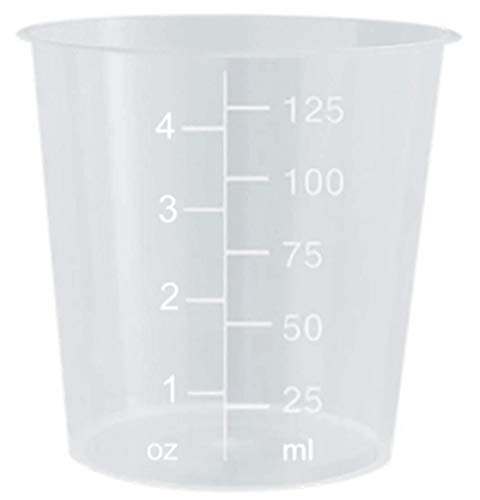 4oz Graduated Transparent Polypropylene Plastic Cups for Mixing Epoxy, Resin, Paint, and Stain - 25 Count ()