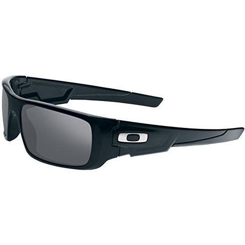 Oakley Men's OO9239 Crankshaft Rectangular Sunglasses, Polished Black/Black Iridium, 60 mm (Red Oakley Sonnenbrillen)