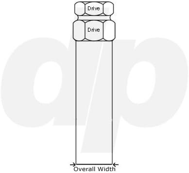 for DP Brand 3//4 /& 13//16 Lugs Lug Nut Installation Tool Key//Adapter DPAccessories D5210K 6-Spline Installation Tool