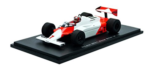 Spark S4300 – McLaren MP4 1 – Winner GP Großbritannien 1981 – Maßstab 1 43 – Weißszlig; Rot