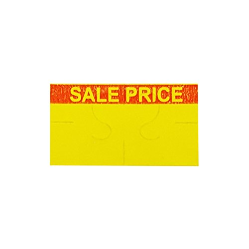 Amram 1 Line 10x19 Yellow/Red SALE PRICE Pricing/Marking Labels, 1 Sleeve of 16 Rolls/17,000 Labels. Includes 1 Free Ink Roller Replacement. Labels & Ink roller compatible w/Monarch 1110.