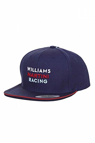 7c804d14aee Image Unavailable. Image not available for. Color  Williams Martini Racing Navy  Flat Brim Hat