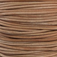 - #01 Natural Round Leather Cord 0.5mm (1/64