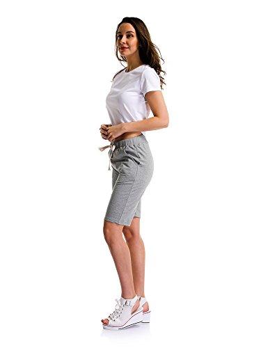 Maglia Ochenta In Pantaloncini Elastico Donna Grigio Basic qwqPXH