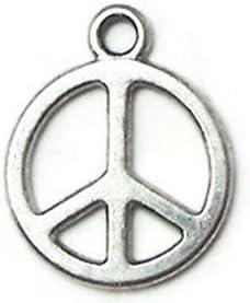 8Pcs Tibetan Silver Antiqued Gold,Bronze PEACE Charms Connectors M1426
