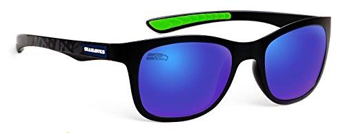 Officially Licensed NFL Sunglasses, Seattle Seahawks, 3D Logo on Temple - 100% UVA, UVB & UVC - Seattle Prescription Sunglasses