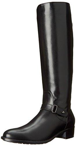Aquatalia Women's Olga Riding Boot,Black Calf,9.5 M US