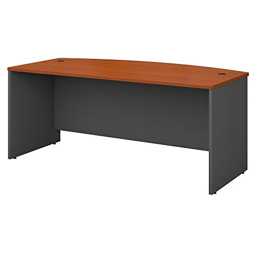 Bush Business Furniture Series C 72W x 36D Bow Front Desk in Auburn ()