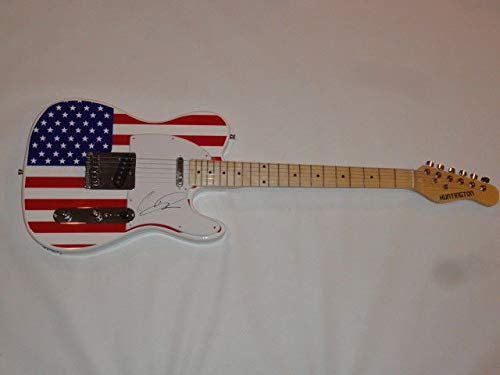 Chris Daughtry Signed Autograph Usa Flag Electric Guitar American Idol Proof Sports Memorabilia JSA Certificate of Authenticity Included