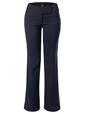 Design by Olivia Women's High Waist Slim Boot-Cut Stretch Office Pants Trousers