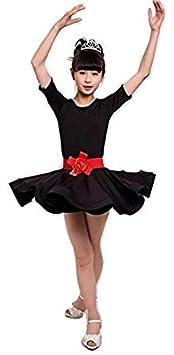 Robe de danse pour enfants Ballet Latin Rumba Samba Robe Jupes Dancewear Filles Enfants 3-15 ans