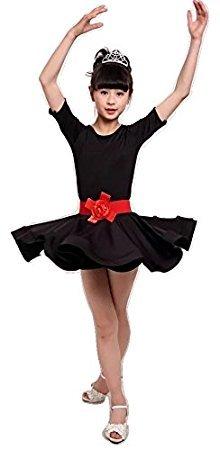 Vestido de baile para niños Ballet Vestido de samba de rumba latina Faldas Dancewear Niñas Niños de 3 a 15 años