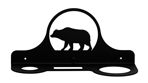Iron Bear Hair Dryer Rack - Heavy Duty Metal Hair Dryer Holder, Hair Tools, Hair Dryer Hook by IronWorks