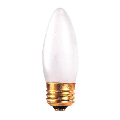 Bulbrite 25ETF/3 25W 130V Incandescent Torpedo Chandelier Bulb B10 Bulb, Frost (130v Torpedo)