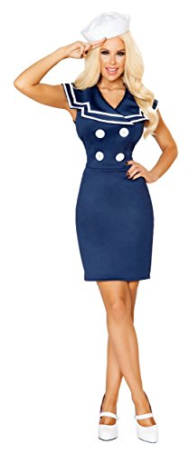 [Classy Sailor Adult Costume - Small] (Military Pin Up Costumes)