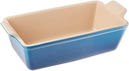 Loaf Pan Bread Stoneware Blue Microwave & Freezer Resistant Kitchenware Pan Homey Delight