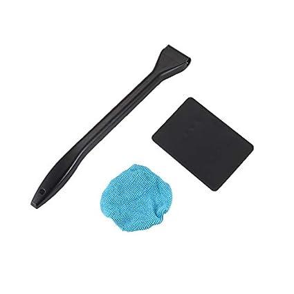 Limpiaparabrisas de plástico portátil Pudincoco Limpiador fácil Microfibra limpia Ventanas de difícil acceso en su automóvil