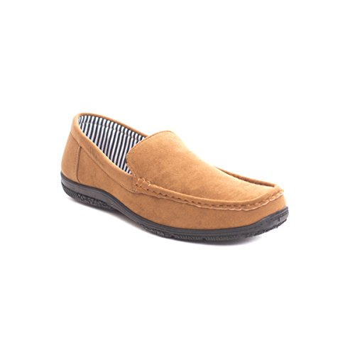 Soho Skor Mens Business Casual Slip På Mocka Loafers Konjak
