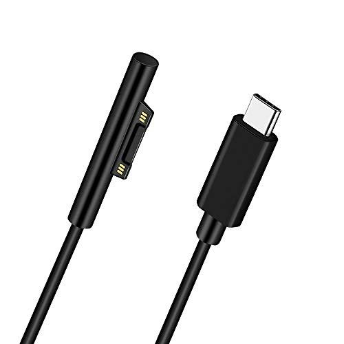 Surface Connect to USB-C Charging Cable 15V/3A, Compatible with Microsoft Surface Pro 7/6/5/4/3, Surface Laptop 3/2/1, Surface Go, Surface Book (6FT)