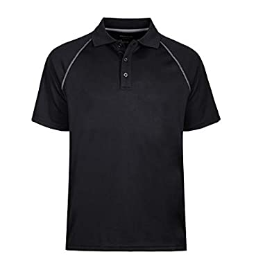 Men's Short Sleeve Moisture Wicking Performance Golf Polo Shirt, Side Blocked, Tall Sizes: M-7XL