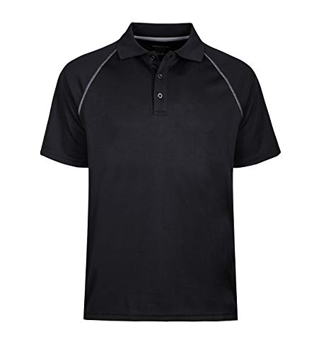 MOHEEN Men's Short Sleeve Pique Original Fit Polo Shirt (XL,Black) Boys Original Pique Polo Shirt