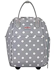 Cath Kidston - Expandable Travel Backpack Rucksack with Wheels Suitcase - British Designer - Button Spot