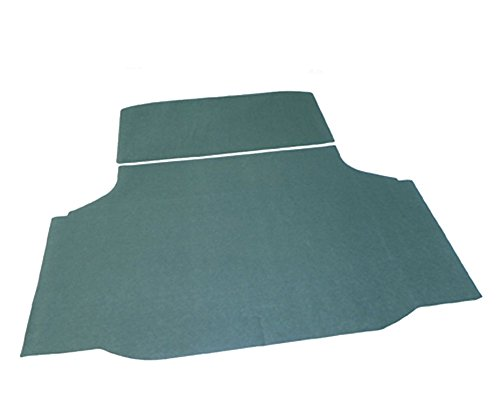 Oldsmobile Cutlass Trunk - (M-4-5) 70-72 Oldsmobile Olds 442 W-30 Cutlass F-85 Green Trunk Mat Felt Rubber Backing