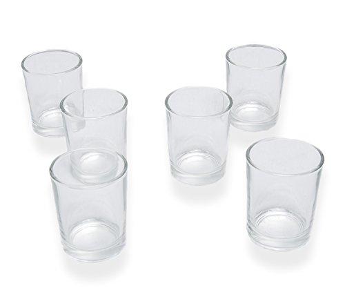 Votive Candle Holders Glass Set of 12 (Clear Votive Holder)