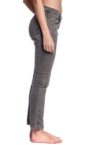 Abbino 60115 Pantalones para Mujeres - Hecho en ITALIA - 3 Colores - Entretiempo Primavera Verano Otoño Fashion Elegantes Rebajas Encanto Estilo Clásico Atractivo Joven Delicado Flexible Algodón Gris