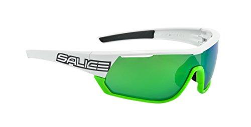 Salice 016crx Lunettes de Soleil Mixte Blanc/Vert