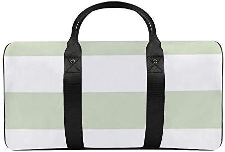 ボールドストライプバジル1 旅行バッグナイロンハンドバッグ大容量軽量多機能荷物ポーチフィットネスバッグユニセックス旅行ビジネス通勤旅行スーツケースポーチ収納バッグ