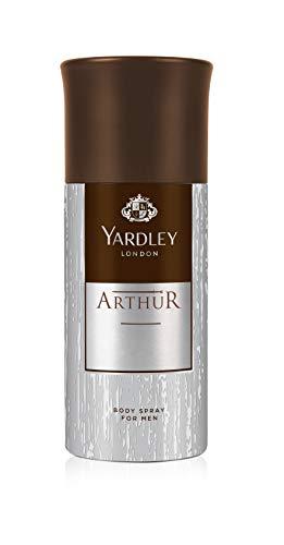Yardley Arthur Body Spray for men, classic aromatic refreshing scent, formal fragrance, 150 ml