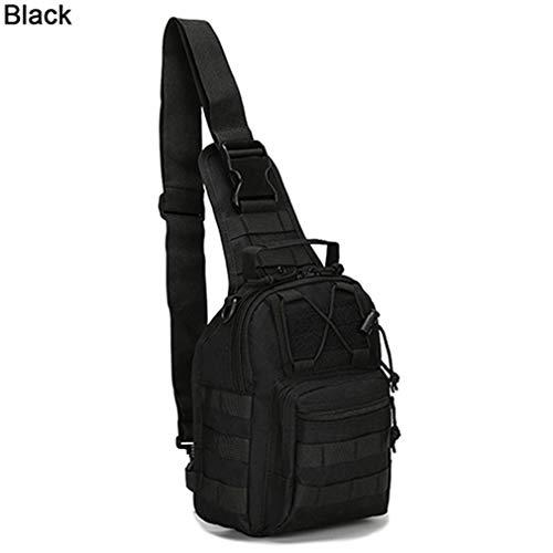Black Men Casual Chest Shoulder Canvas Bag Satchel n0gYrRw0q