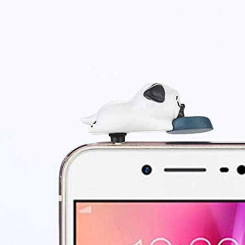 Gotian 3.5mm Cute Puppy Anti Dust Earphone Jack Plug Stopper Ear Cap for Cellphone (E)