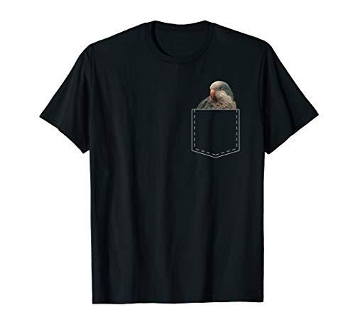 Cute Quaker Parrot Shirt Pocket Parakeet Lover TShirt Gift