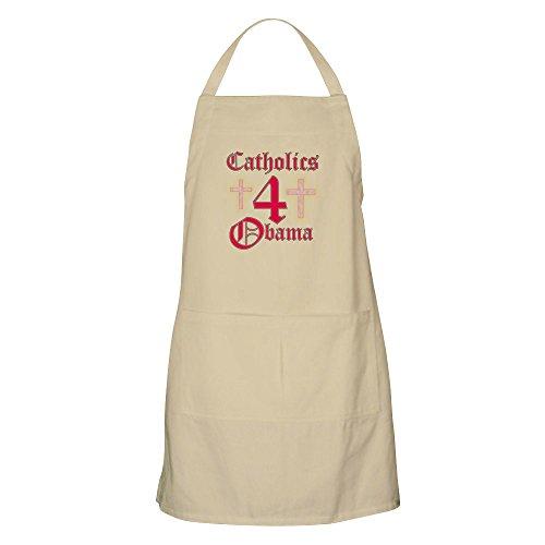 CafePress - Catholics 4 Obama BBQ Apron - Kitchen Apron with Pockets, Grilling Apron, Baking Apron by CafePress