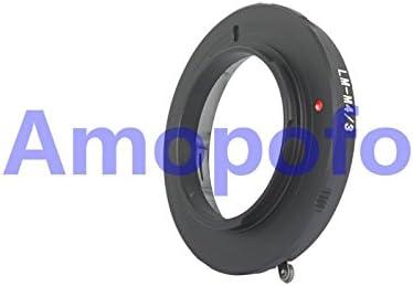 Amopofo L//M-M4//3 Adapter Leica M LM Mount Lens to Olympus PL1 GF1 OM-D Panasonic GH4 GX7 BMPCC