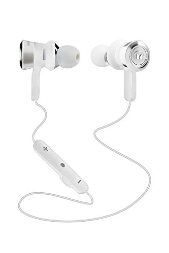Monster MH CLY IE WHCR BT WW Clarity HD In-Ear Bluetooth Headphones - White and Chrome