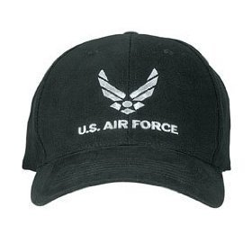 Air Force Cap (Rothco Usaf Low Profile Cap, Black)