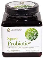 Youtheory Spore Probiotic Advanced, Black, 60 Count