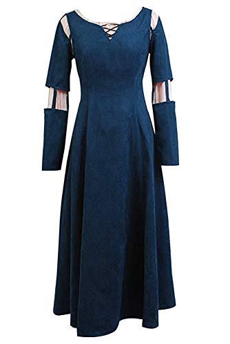 SIDNOR Brave Princess Merida Dress Cosplay Costume Dress