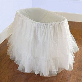 Babydoll Bedding Bassinet Petticoat, 16'' x 32''