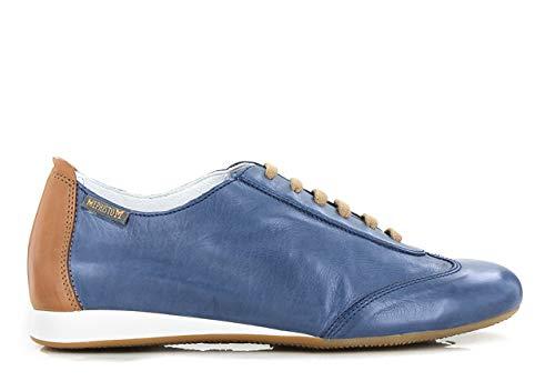 Desert Zapatos Mujer Para Texas7942 Piel Azul De Cordones Becky Mephisto 74xv1qB4w