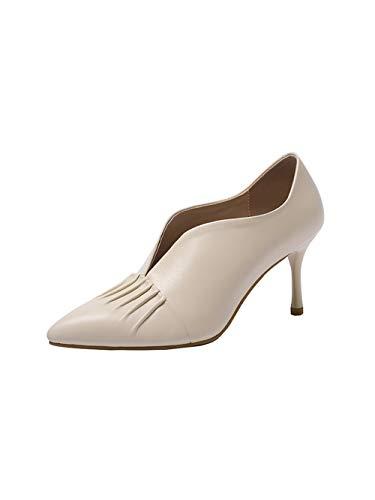 Vaneel Su toe Scarpe 7cm Donna Calzature Col Avorio Tacco Scivolare Vadxpt Punta rRwgqBrZS