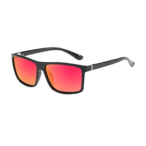 Modelo Frame Polarizado Hombre Para Sol Conducir Excelentes Bicicleta Y BVAGSS Black Gafas Red Vintage Lens Gafas With De WS021 Montar Classic qITnxwpSt