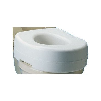 Elevated Toilet Seat With Undergrips by Carex Health Brands