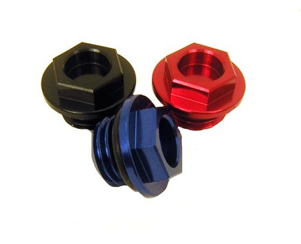 Outlaw Racing PP1100ZBU Oil Fill Cap Blue Suzuki Kawasaki KX250F 2004 (Oil Filler Cap Wrench)