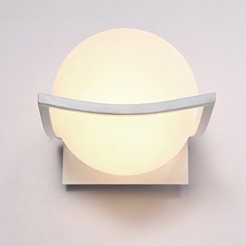 FAYM - Vetro sferico ombra lampada da parete posto letto singola lampada testa semplici camere da letto moderne lampade di illuminazione