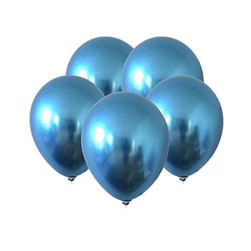 LBgrandspec 5Pcs 12inch Metallic Latex Balloon Celebration Wedding