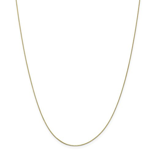 10k Yellow Gold .5mm Link Box Chain Necklace 24 Inch for sale  Delivered anywhere in Canada